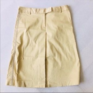 Theory Beige A-Line Skirt